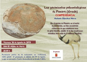 Conferencia sobre los yacimientos paleontológicos de Famara (Órzola)